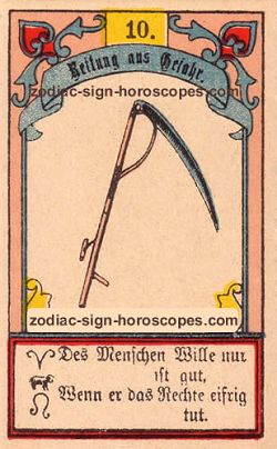 The scythe antique Lenormand Tarot