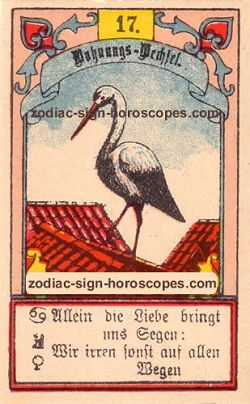 The stork, monthly Sagittarius horoscope January