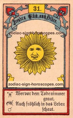 The sun, monthly Sagittarius horoscope January