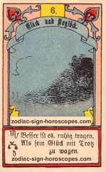 The clouds antique Lenormand Tarot