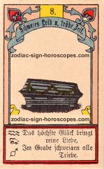 The coffin antique Lenormand Tarot