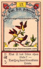 The birds antique Lenormand Tarot