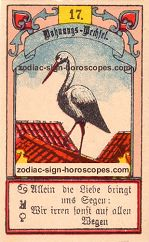 The stork antique Lenormand Tarot