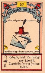 The letter antique Lenormand Tarot